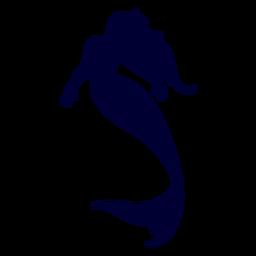 Mermaid swimming silhouette