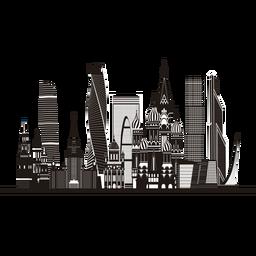 Moscow skyline silhouette