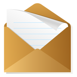 Open envelope 3d icon