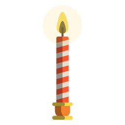 Red candy cane pillar candle
