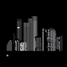 Tel aviv skyline silhouette