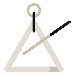 Triangle musical instrument icon
