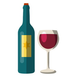 Wine bottle and glass hanukkah element