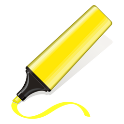 Yellow text marker 3d icon