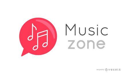 Logotipo de notas musicales