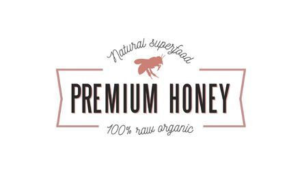 Premium honey ribbon logo template