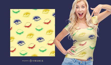 Eye lash pattern