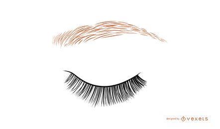 Closed woman eye