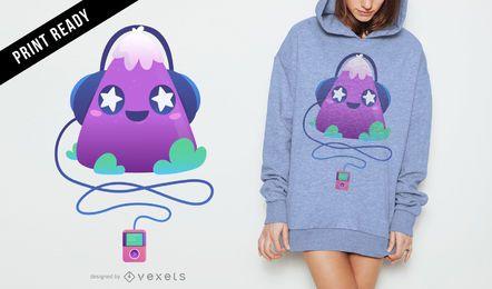 Cute music t-shirt design