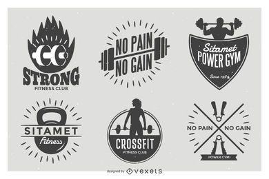 Conjunto de insignia de etiqueta de levantamiento de pesas