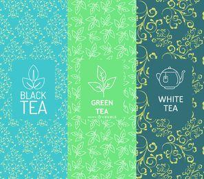 Conjunto de banners de té