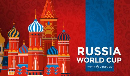 Fondo de la señal de Rusia copa del mundo