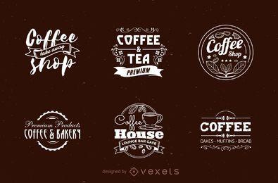 Coffee shop logo set
