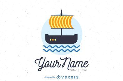Sailing boat logo template