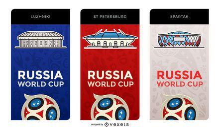 Mundial de fútbol 2018 estadios pancartas