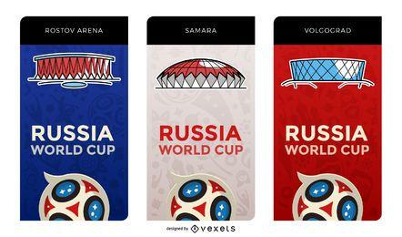 Rusia 2018 banderas del estadio anfitrión