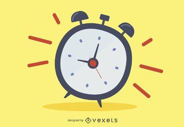Alarm clock ringing cartoon