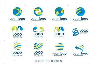 Circular logos set collection
