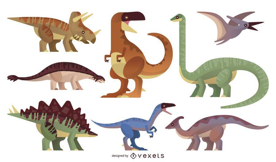 Dinosaur illustration set