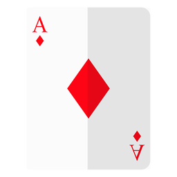 Icono de tarjeta de as de diamantes