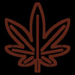Cannabis leaf stroke element