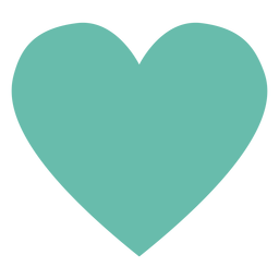 Green heart hippie element