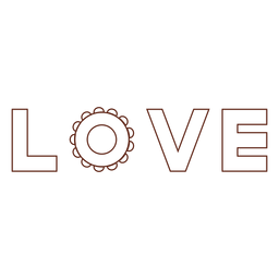 Love lettering stroke element
