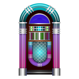 Music jukebox vector