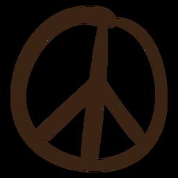 Símbolo de paz color doodle