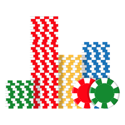 Poker chips stack icon