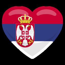 Bandera del corazón de Serbia