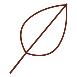 Tree leaf stroke element
