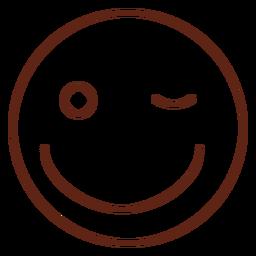 Wink emoticon stroke element