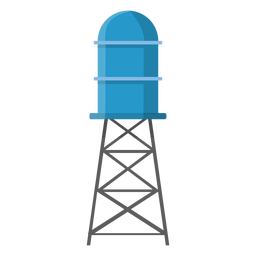Elevated water storage tank illustration