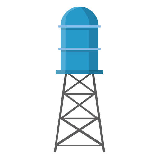 Elevated water storage tank illustration Transparent PNG