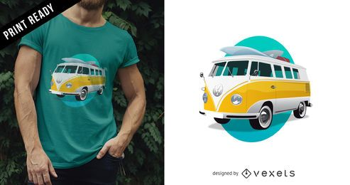Volkswagen bus t-shirt design