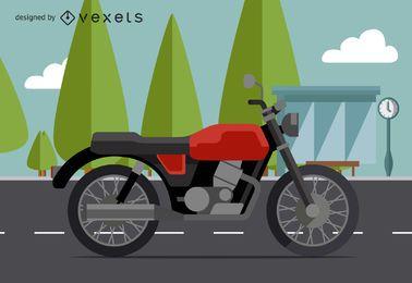 Ilustración de moto