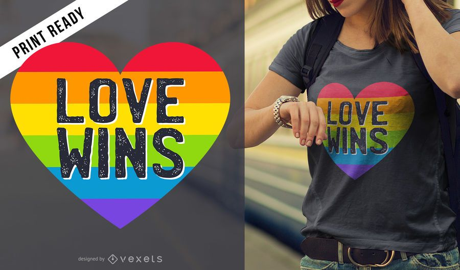 Love wins t-shirt design