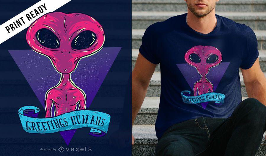 Saludos humanos camiseta diseño