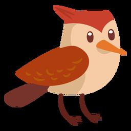 Dibujos animados de pájaro del bosque
