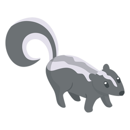 Skunk animal cartoon
