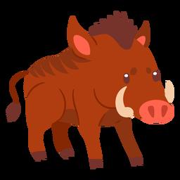 Wild boar animal cartoon