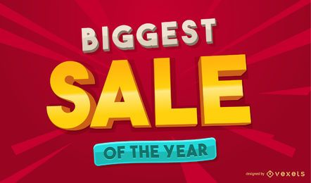 Biggest sale design template