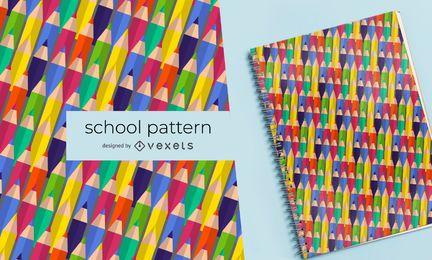 Patrón de escuela lápices de colores