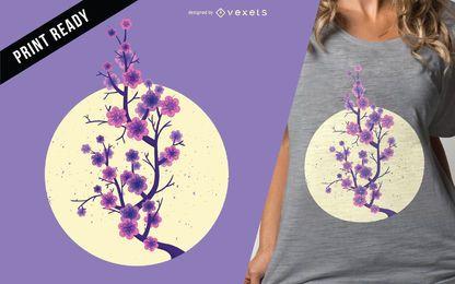 Diseño de la camiseta Sakura cherry blossom