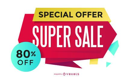 Shopping promotion design template