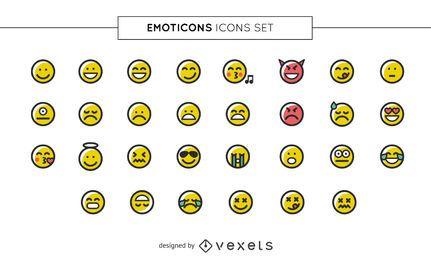 Colección de iconos de Emoji