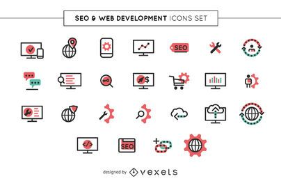 SEO and web icons set