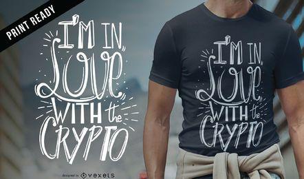 Diseño de camiseta cripto amor