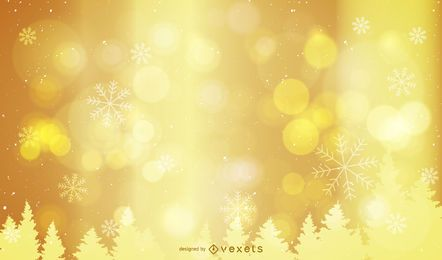 Fondo dorado de Navidad